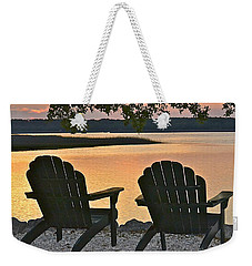Weekender Tote Bag featuring the photograph Sunset Serenity by Carol  Bradley
