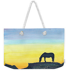 Sunset Silhouette Weekender Tote Bag by C Sitton