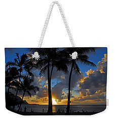Weekender Tote Bag featuring the photograph Sunset Silhouettes by Lynn Bauer