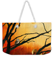 Sunset Sitting Weekender Tote Bag
