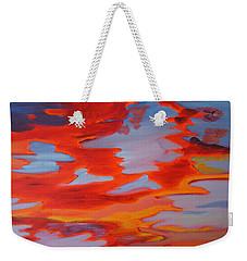 Ruby Red Sunset Weekender Tote Bag