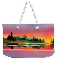 Weekender Tote Bag featuring the painting Sunset by Teresa Ascone