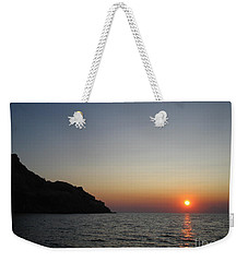 Weekender Tote Bag featuring the photograph Sunset by Vicki Spindler