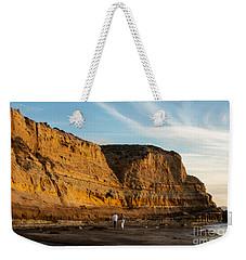 Sunset Walk At Flat Rock  La Jolla California Weekender Tote Bag