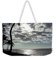 Sunset With Palm Trees Weekender Tote Bag by Pamela Walton