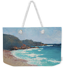 Weekender Tote Bag featuring the painting Sunshine Beach And Lions Head Noosa Heads Queensland by Chris Hobel