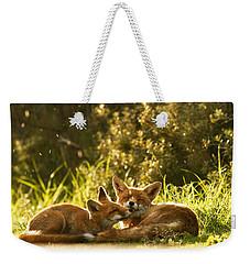 Sunshower Weekender Tote Bag by Roeselien Raimond