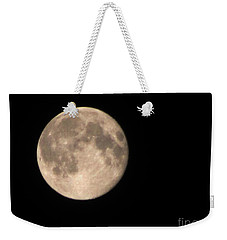 Weekender Tote Bag featuring the photograph Super Moon by David Millenheft