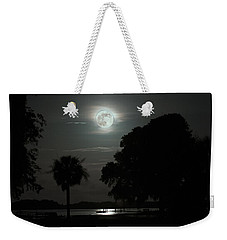Super Moon Over Wimbee Creek Weekender Tote Bag