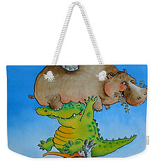 Super Mouse Pen & Ink And Wc On Paper Weekender Tote Bag by Maylee Christie