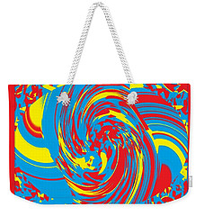 Weekender Tote Bag featuring the painting Super Swirl by Catherine Lott