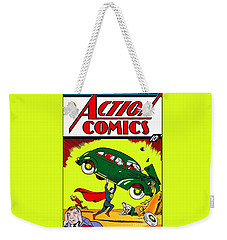 Superman Comic Book -1938 Weekender Tote Bag by Doc Braham
