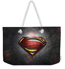 Superman Man Of Steel Digital Artwork Weekender Tote Bag