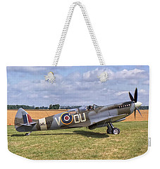 Weekender Tote Bag featuring the photograph Supermarine Spitfire T9 by Paul Gulliver