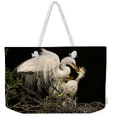 Weekender Tote Bag featuring the photograph Suppertime by Priscilla Burgers