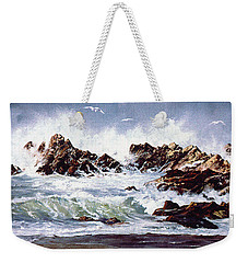 Surf At Lincoln City Weekender Tote Bag by Craig T Burgwardt