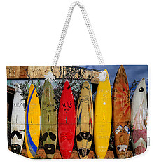 Surf Board Fence Maui Hawaii Weekender Tote Bag