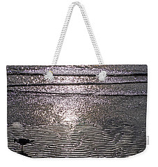 Weekender Tote Bag featuring the photograph Surf Sand Seagull by Jordan Blackstone