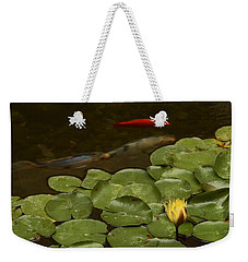 Weekender Tote Bag featuring the photograph Surface Tension by Michael Gordon