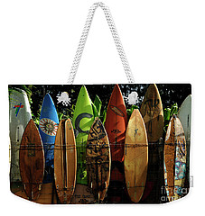 Surfboard Fence 4 Weekender Tote Bag by Bob Christopher