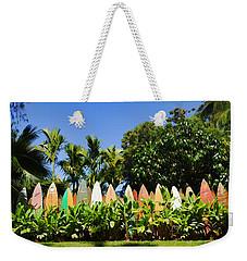 Surfboard Fence - Left Side Weekender Tote Bag by Paulette B Wright