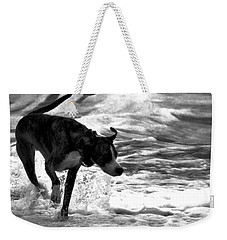 Surfer Bird Weekender Tote Bag by Robert McCubbin