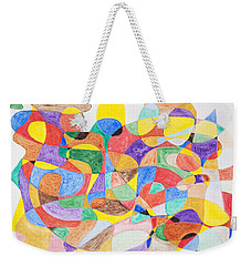 Weekender Tote Bag featuring the painting Abstract Dance Party  by Stormm Bradshaw