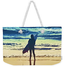 Surfer Girl Weekender Tote Bag by Andrea Auletta