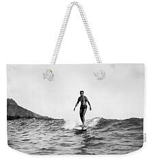 Surfing At Waikiki Beach Weekender Tote Bag