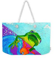 Surfing Froggie Weekender Tote Bag