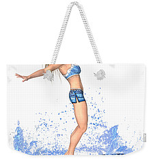 Surfing Girl Weekender Tote Bag