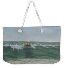 Surfing Golden Weekender Tote Bag