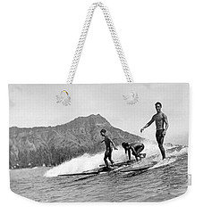 Surfing In Honolulu Weekender Tote Bag
