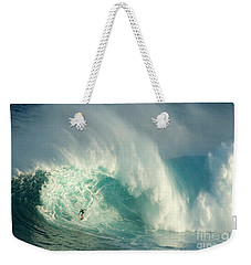 Surfing Jaws 3 Weekender Tote Bag by Bob Christopher