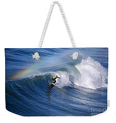 Surfing Under A Rainbow Weekender Tote Bag