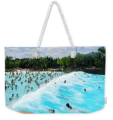 Weekender Tote Bag featuring the photograph Surfs Up by David Nicholls