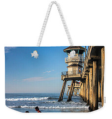 Weekender Tote Bag featuring the photograph Surf's Up by Tammy Espino