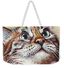 Surprised Kitty Weekender Tote Bag