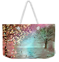 Nature Fantasy Trees Surreal Dreamy Twinkling Fantasy Sparkling Nature Trees Weekender Tote Bag