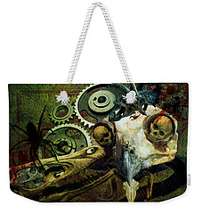 Weekender Tote Bag featuring the painting Surreal Nightmare by Ally  White