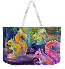Surreal Squirrels In Square Weekender Tote Bag