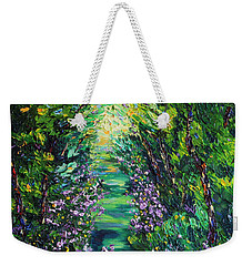 Weekender Tote Bag featuring the painting Surrender by Meaghan Troup