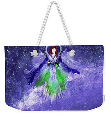 Weekender Tote Bag featuring the painting Survivor by Alys Caviness-Gober