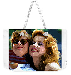 Susan Sarandon And Geena Davies Alias Thelma And Louis - Watercolor Weekender Tote Bag