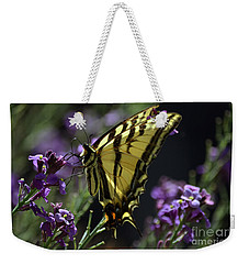 Swallowtail Butterfly On Lavender  Weekender Tote Bag