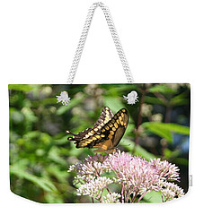 Weekender Tote Bag featuring the photograph Swallowtail by Karen Silvestri