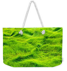 Swamp Grass Abstract Weekender Tote Bag by Gary Slawsky