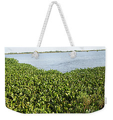 Weekender Tote Bag featuring the photograph Swamp Hyacinths Water Lillies by Joseph Baril