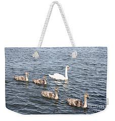 Swan And His Ducklings Weekender Tote Bag by John Telfer