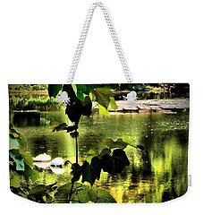 Swan Dive Weekender Tote Bag by Robert McCubbin
